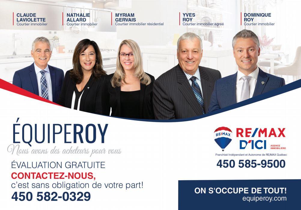 évaluation de votre propriété - Equipe Roy 2